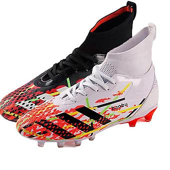 Men Football Boots, Outdoor High Top Sneakers,  Kids Soccer Shoes
