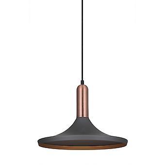Cinza pendente moderno, cobre 1 luz, E27