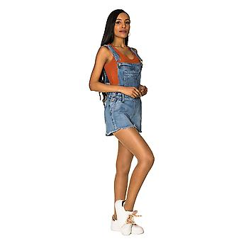 Women's Bib Shorts Short Jeans Dungarees Hot Denim Skinny Stretch Vintage 90s