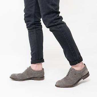 Η βάση του Λονδίνου Onyx Mens σουέτ προφορά τα παπούτσια γκρίζα