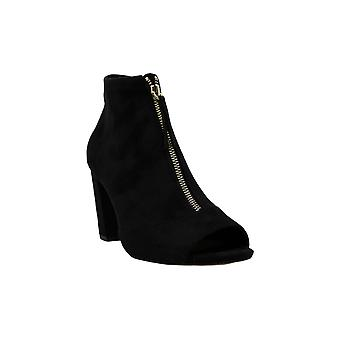 INC International Concepts Womens KIRSIF Fabric Open Toe Ankle Fashion Boots