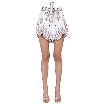 Zimmermann 9576apopliem Women's Lilac Linen Shorts