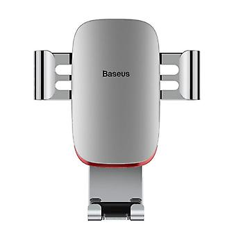 Baseus Universal Phone Holder Car with Air Grille Clip - Gravity Dashboard Smartphone Holder Silver