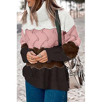 סוודר עם צווארון גבוה לנשים
