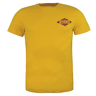 Timberland New Hampshire Mens T-Shirt Yellow Graphic Top A1LMZ M72