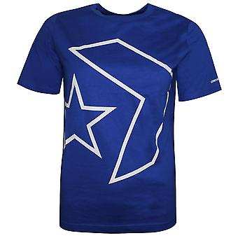 Converse Junior Boys Outlined Star Chevron Tee Sininen T-paita 968910 024