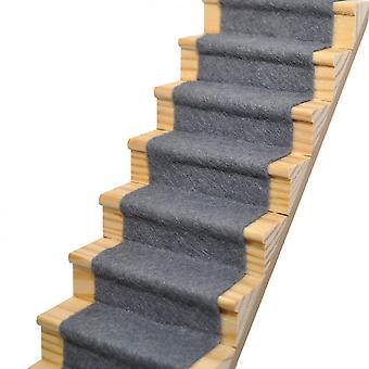 בובות בית צפחה אפור צמר לערבב שטיח מדרגות ראנר דבק עצמי 1:12 ריצוף
