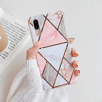 جودة عالية لينة Imd طلاء هندسية رخام الهاتف القضية، غطاء