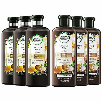 Herbal Essences BioRenew Duo CoconutMilk Shampoo And Conditioner 400ml Pack Of 3