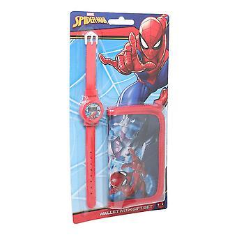 Spider-Man Lasten/Poikien lompakko ja kellosetti