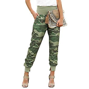 Womens Pocket Casual Pants With Slit