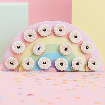 Pastell Party Regenbogen Donut Party Wanddekoration für Donuts