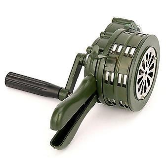 Hand-crank Sirene Hoorn, Handbediende, Metaal Alarm Luchtaanval, Noodsituatieveiligheid