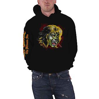 Ozzy Osbourne Hoodie Ozzy Demon Band Logo new Official Mens Black Pullover