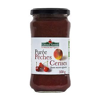 Sugar-free cherry peach puree 350 g