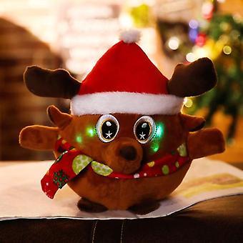 Santa Claus Electric Toy Fun Multifunction Santa Doll With Light Music Elk