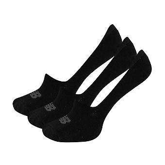 New Balance Performance Cotton Cushioned 3 Pack Ultra No Show Socks - Black