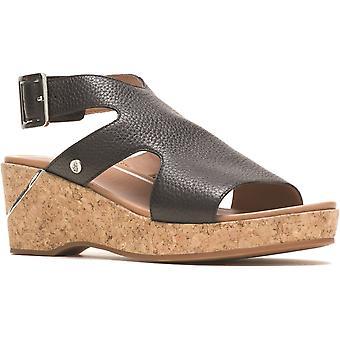 Hush Puppies Womens Maya Leather Wedge Sandals