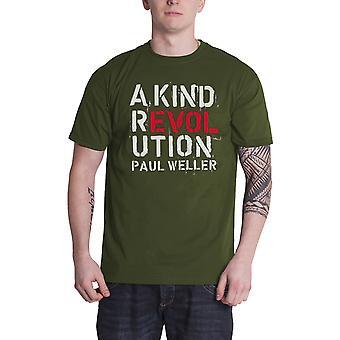 Paul Weller T Shirt A Kind Revolution Album Cover Logo Official Mens New Green