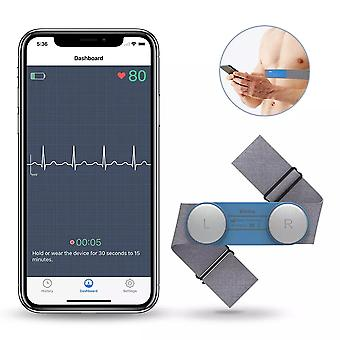 Bluetooth Wearable EKG Monitor Handheld Heart Rate EKG Monitoring USB Wireless Data Recording Android IOS Electrocardiogram