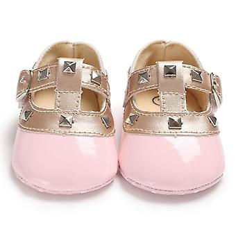 Newborn Baby Bow Princess Soft Sole Crib Leather Solid Buckle Shoes