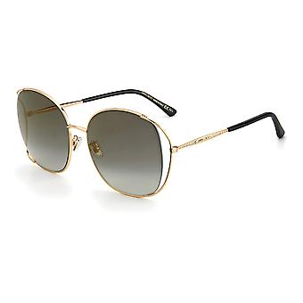 Jimmy Choo Asian Fit TINKA/G/SK 000/FQ Rose Gold/Grey Gradient Gold Mirror Solglasögon