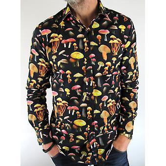 Navy Mushroom Print Shirt