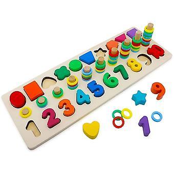 HanFei Holzblcke Puzzles Kinder Spielzeug fr Kleinkinder Vorschule Lehre Frherziehung Spielzeug fr