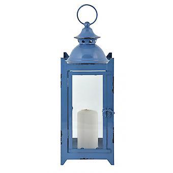 فانوس خمر 14.5 × 28.6 سم الحديد الأزرق