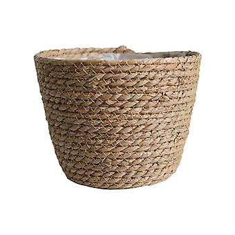 Nordic style straw flower and plant vase storage baskets for decor