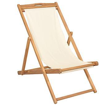 vidaXL Deckchair Teak 56×105×96 cm Kerma