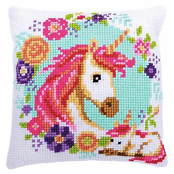 Vervaco Cross Stitch Kit: Cushion: Mother and Baby Unicorn
