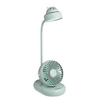 Mini fan halter handheld desk lamp desktop usb wind power multifunctional lamp built-in battery