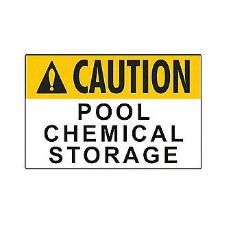 "Aquatic 8001WS1812E 18"" x 12"" Caution Pool Chemical Storag"
