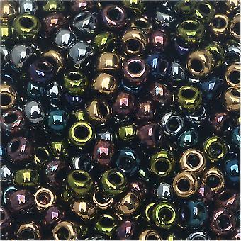 Perline di semi rotonde Miyuki, 8/0, tubo da 22 grammi, #9MIX23 metalli pesanti