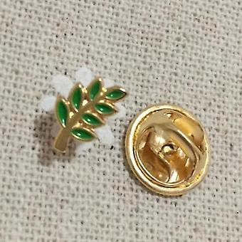 2kpl vihreä lehti acacia oksa vapaamuurari lapel tappi
