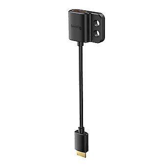 FengChun Ultra Slim 4K HDMI Kabel Adapterkabel Mini HDMI Stecker auf Full HDMI Buchse 14cm (C auf A) -