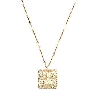 NOELANI Necklace with women's pendant in silver 925 gold plated, patterned chain, adjustable length