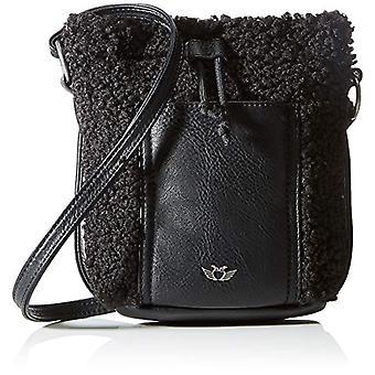 Fritzi aus Preussen Poni Cruz Medio, Bolsa de carpeta de mujer, Negro, Una talla