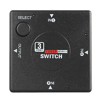 Mini 3 Switch High Definition 3 Port Hdmi-compatible Switcher Splitter