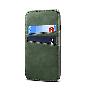 Wallet leather case card slot for iphone7/8 dark green pc4268