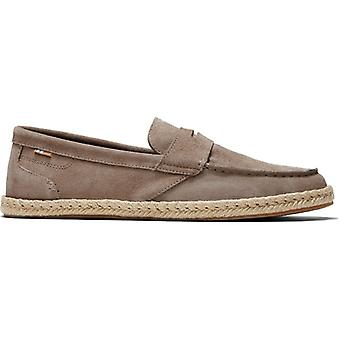 TOMS Stanford Rope Mens Cuir Espadrille Chaussures Taupe