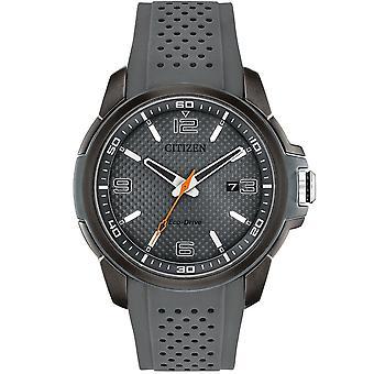 Borger Aw1159-02h Eco-drev Grå Silikone Strap Herre Watch
