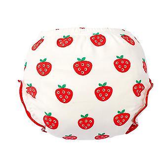Erdbeere 90cm für 12-14kg Baumwolle Höschen, Neugeborene Baby Mode waschbare Windel Hose, Baby-Training Hose az20703
