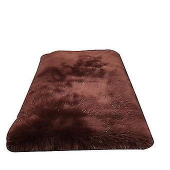 30Cm coffee plush round bedroom carpet round cushion az1843
