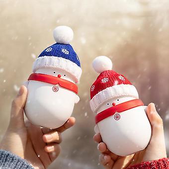 Banque d'alimentation USB plus chaude à la main du bonhomme de neige
