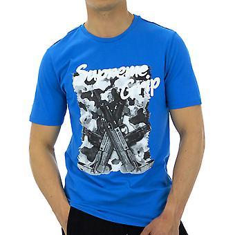 Supreme Grip Men T-Shirt Thunderbird Black