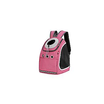 Pink mesh breathable foldable pet backpack fashion outing cat bag pet backpack dt548