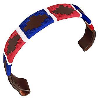 Carlos díaz diseñador de cuero genuino encerado bordado gaucho polo caballo brida banda awo53701