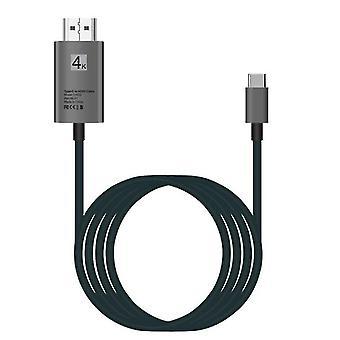2m USB 3.1 Type-C naar HDMI kabel (Grijs)